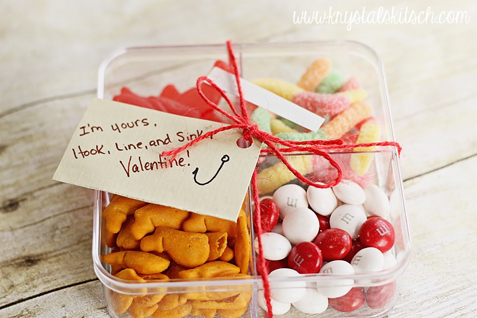 Easy Valentines Day Cards Tackle Box Treats
