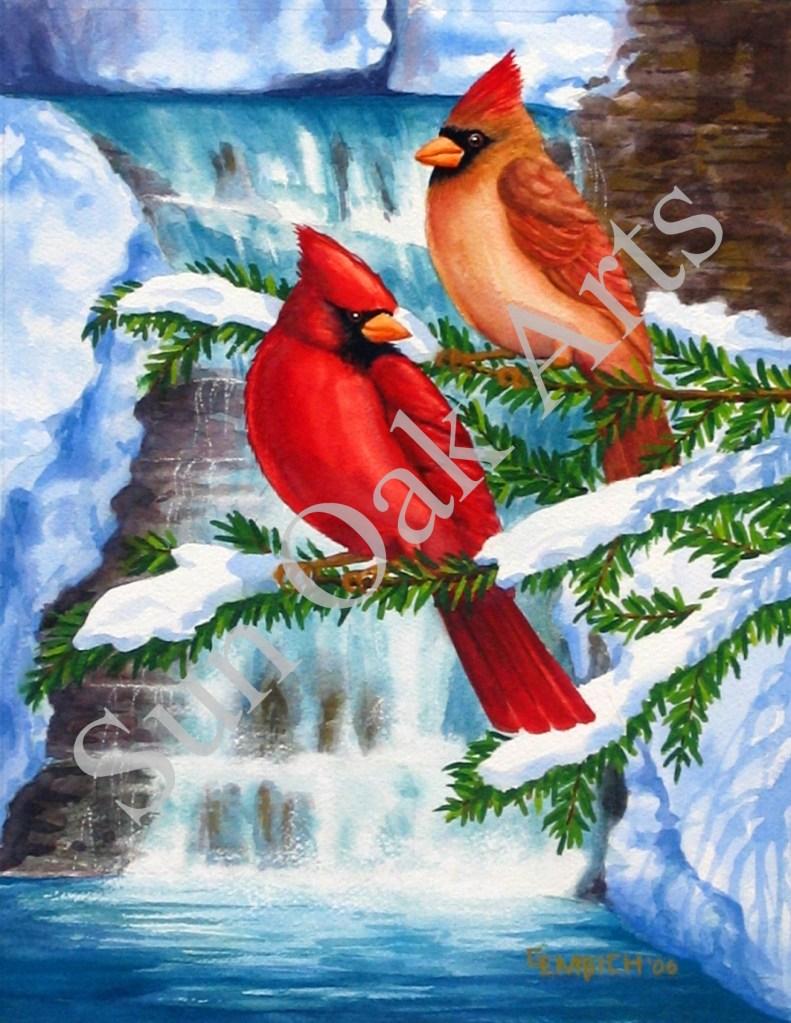 Cardinals at Raymondskill