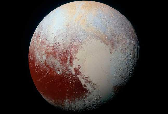 Плуто, ергежейлі планета, фотосурет