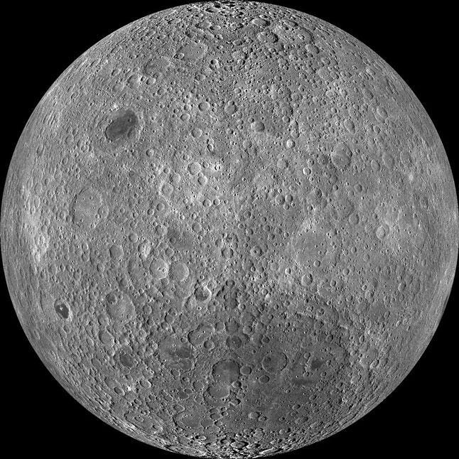 Обратная сторона Луны, темная сторона луны, фото, НАСА, NASA