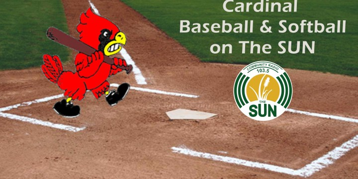 CARDINALS BASEBALL AND SOFTBALL COMING TO 103.5 THE SUN COMMUNITY RADIO