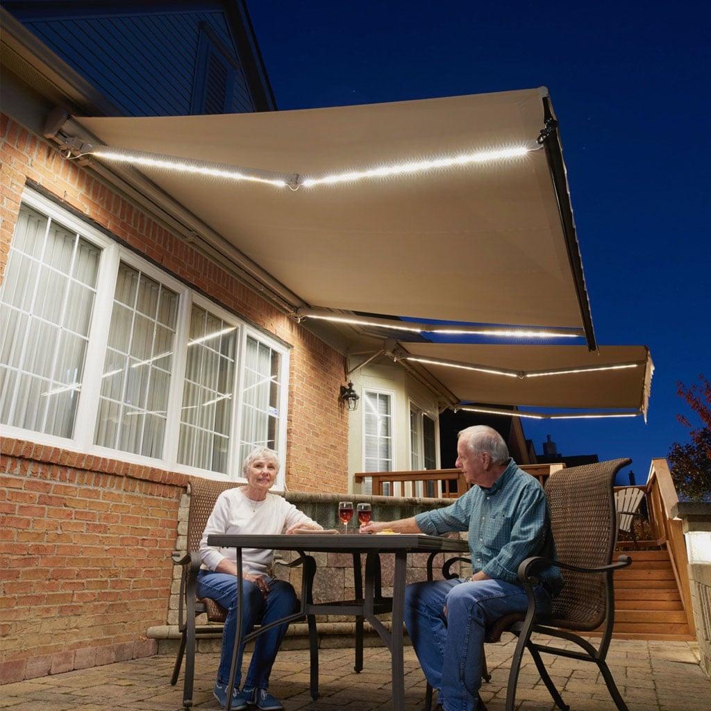 motorized retractable awnings sunpro