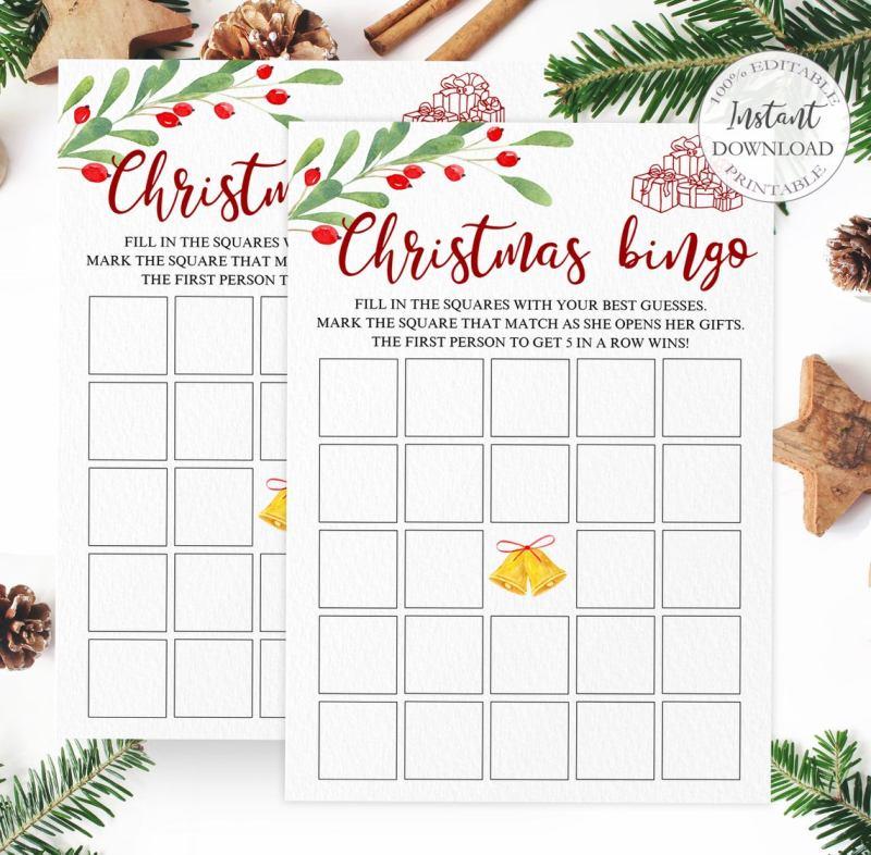 christmas- bridal-bingo-game