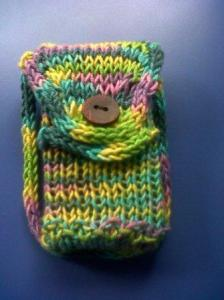 The front of the pouch