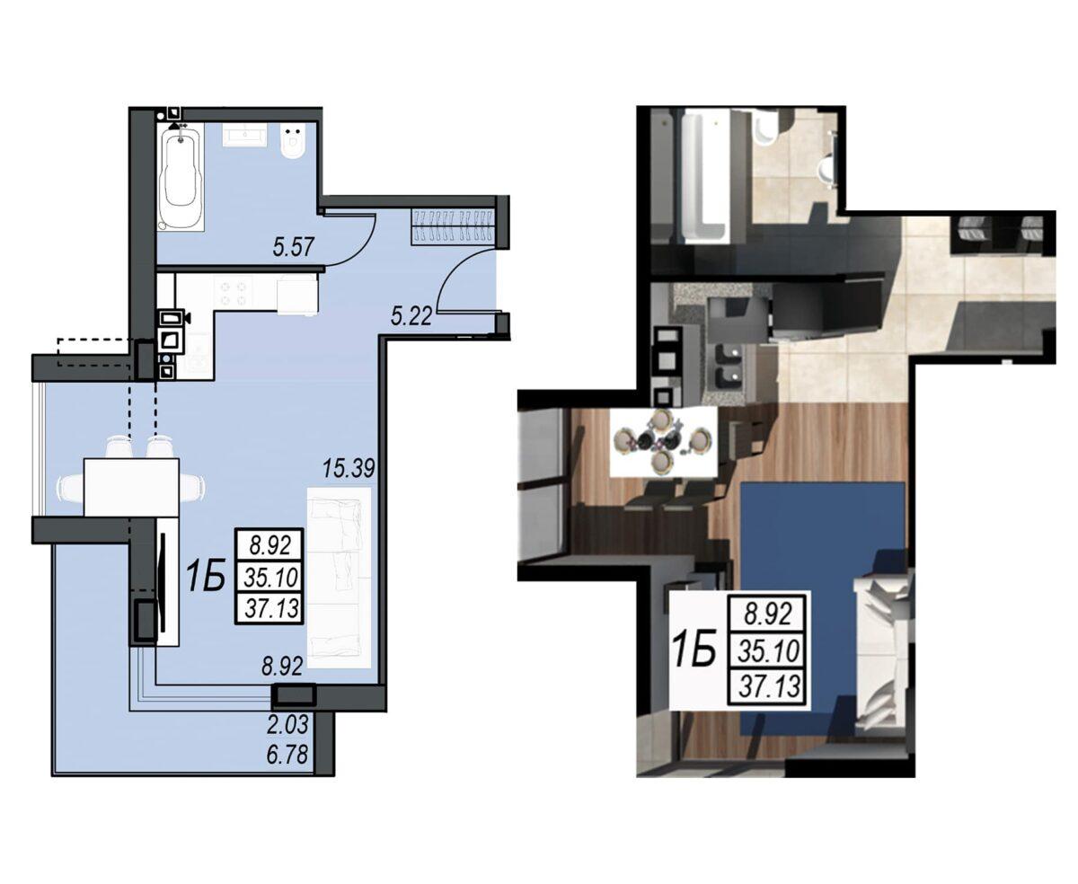 Планировка квартиры: 140