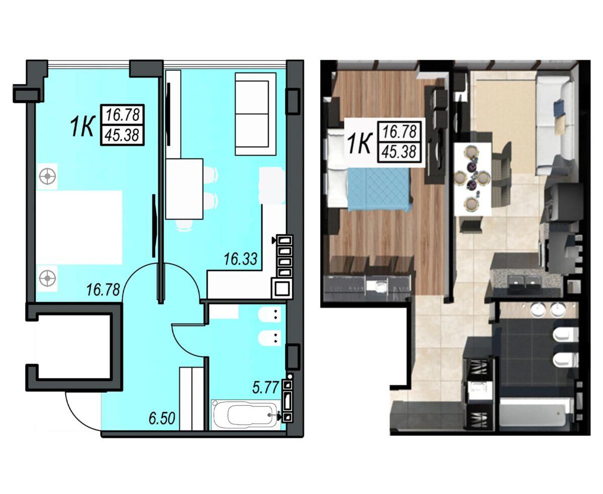 Планировка квартиры: 32