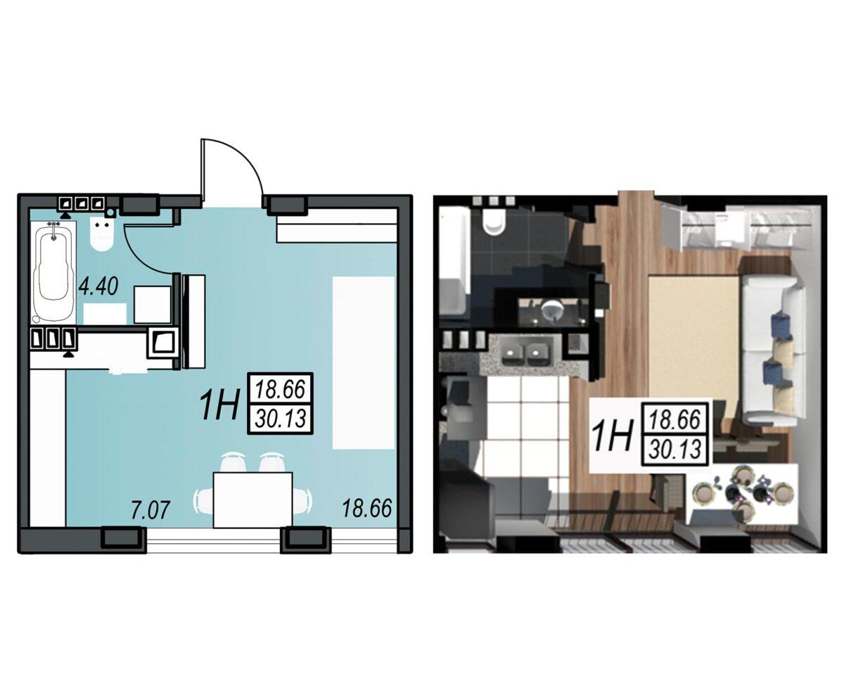 Планировка квартиры: 168