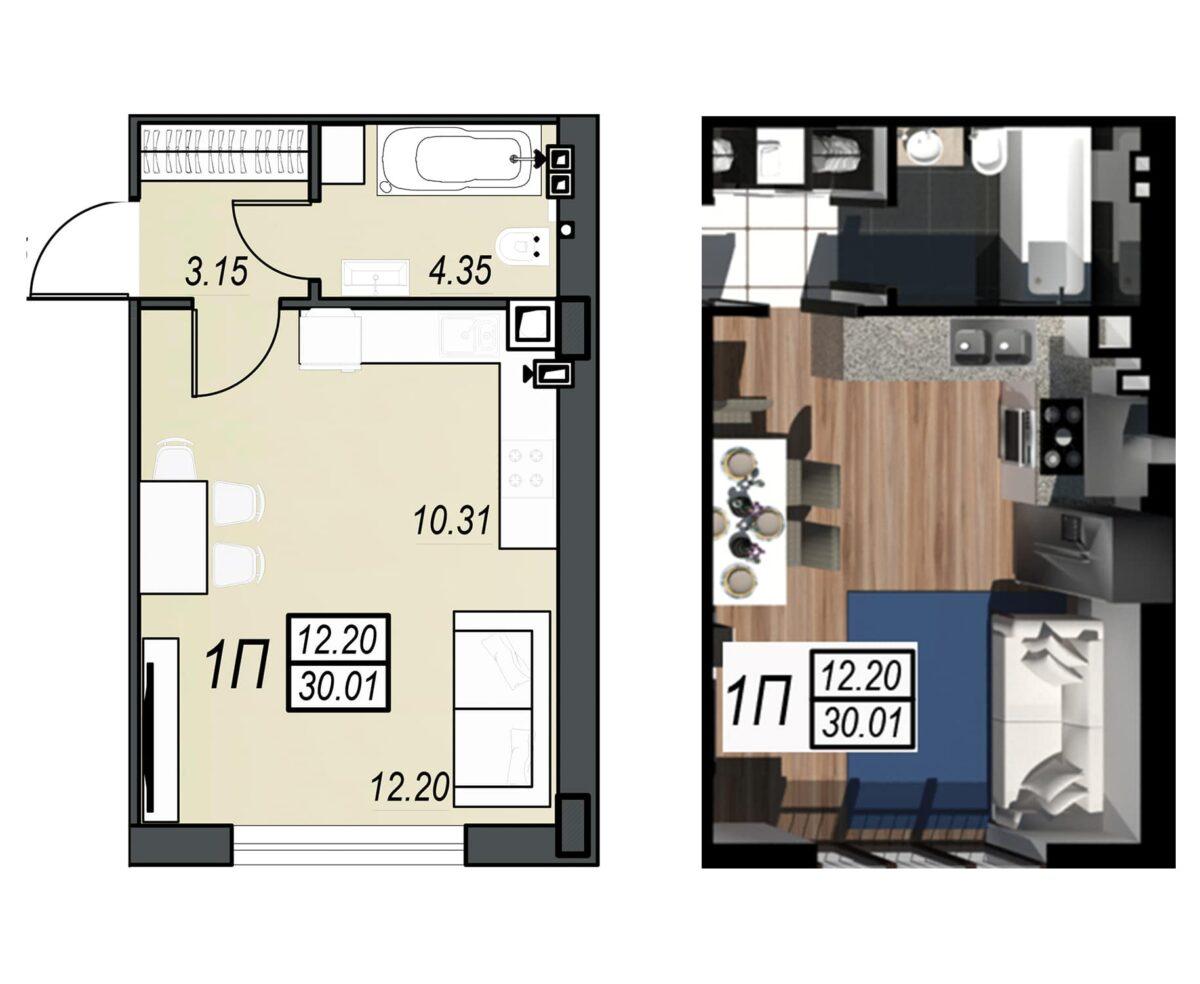 Планировка квартиры: 157
