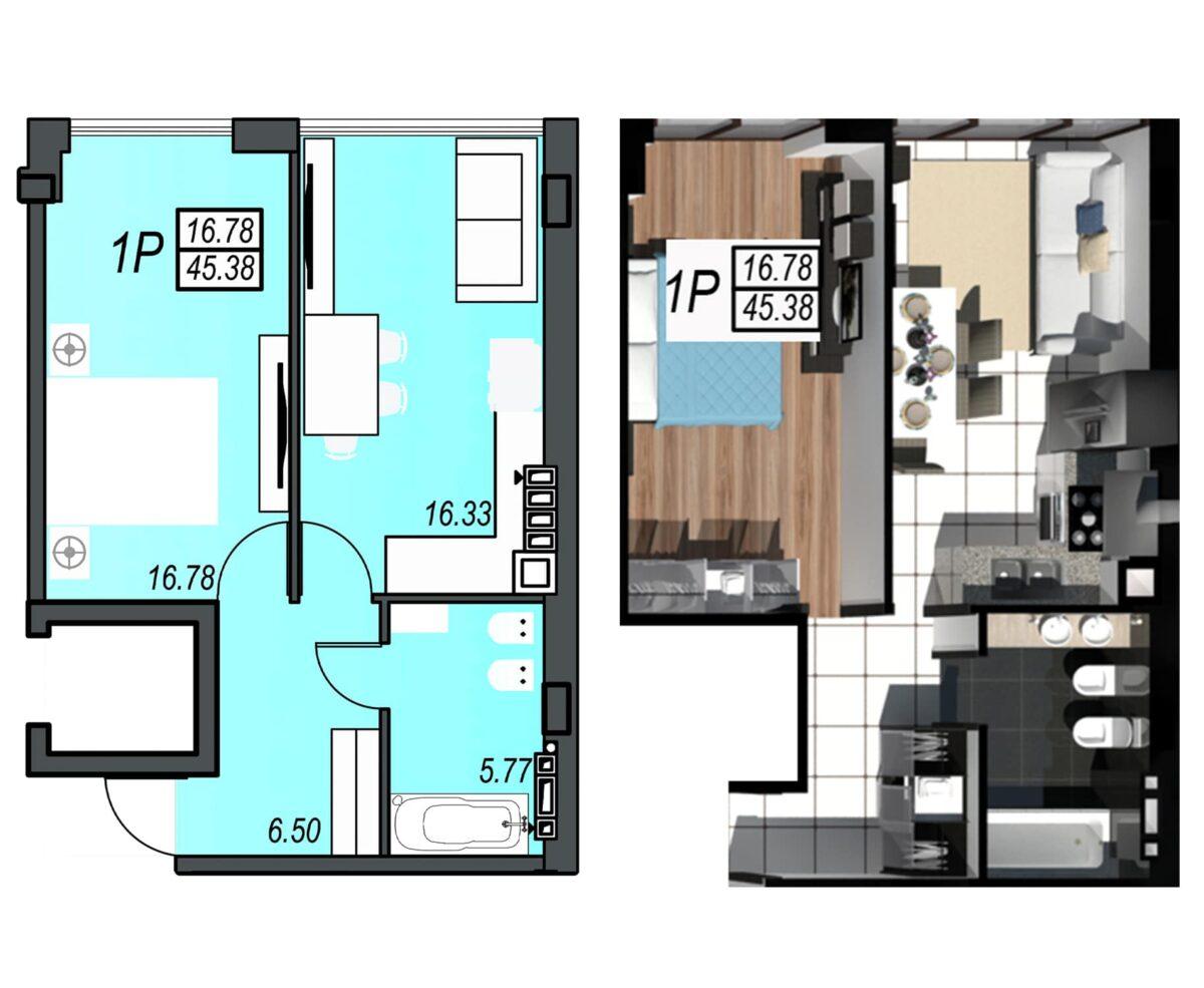 Планировка квартиры: 166