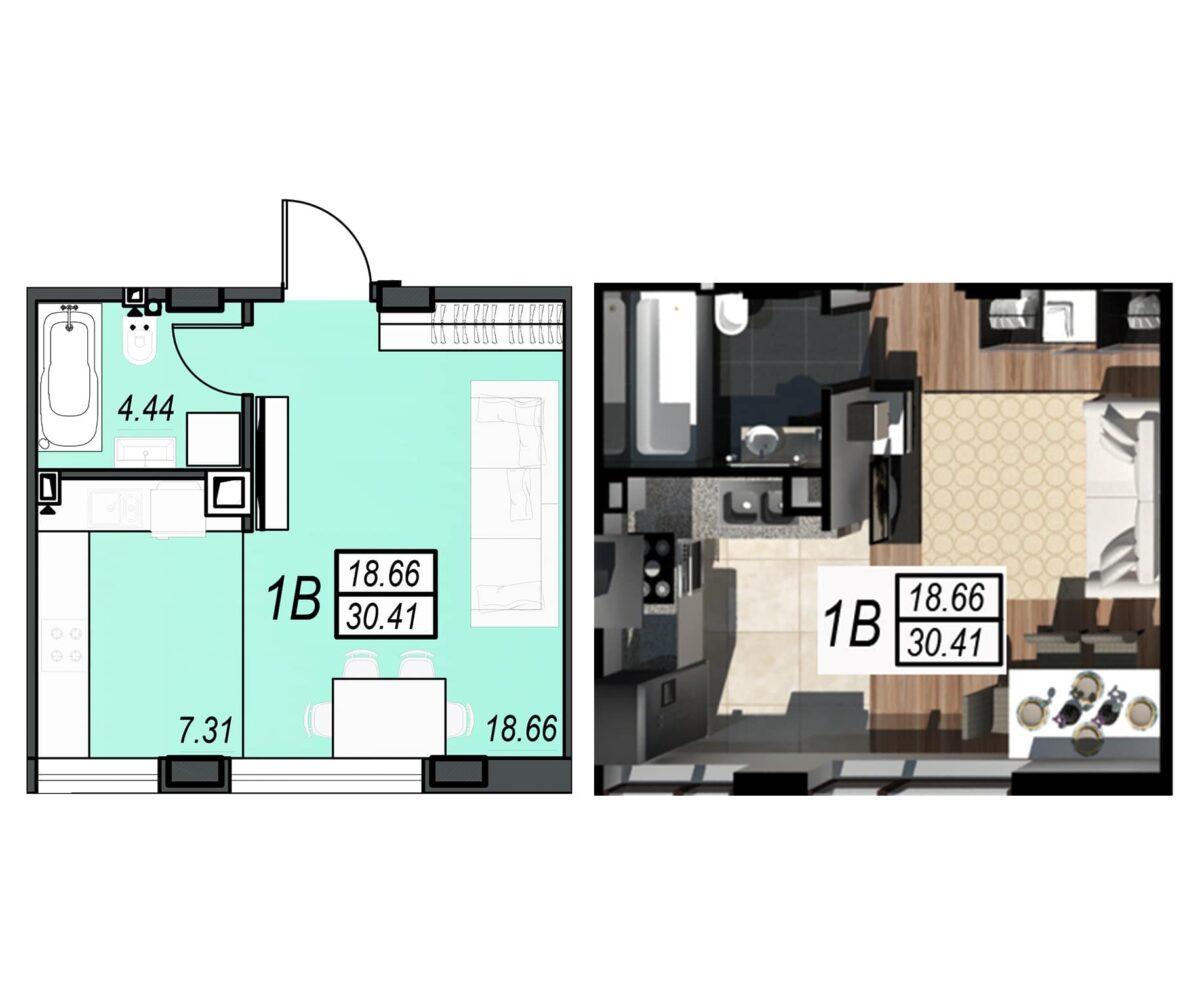 Планировка квартиры: 139