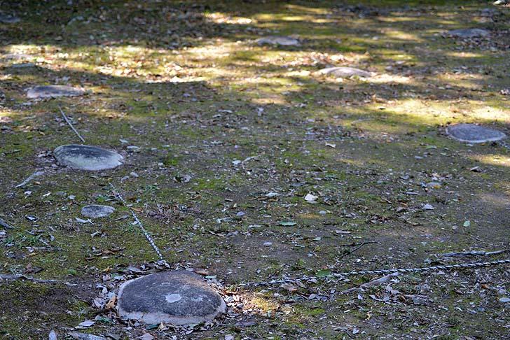 金山城跡の礎石