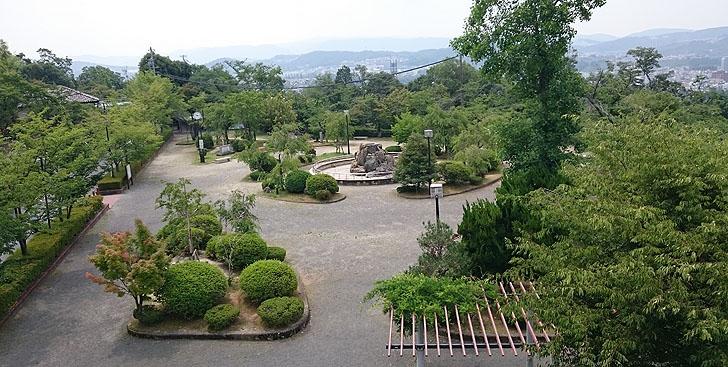 聖火リレーのコース虎渓公園