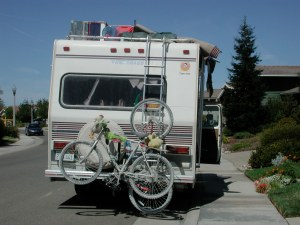 Hint to Burners -- make sure your license plate is visible on the back of your vehicle.  We had to move ours away from the bikes so we wouldn't get a ticket.
