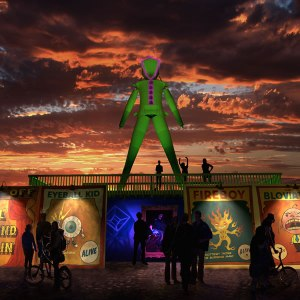 Artist's rendering of the 2015 theme:  Carnival of Mirrors