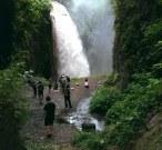 Belawan waterfall from ijen crater
