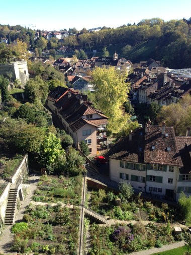 Terraced gardens and Swiss homes.