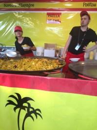 Paella stand