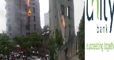 JUST IN: Fire Engulfs Unity Bank Head Office In Lagos (PHOTOS)