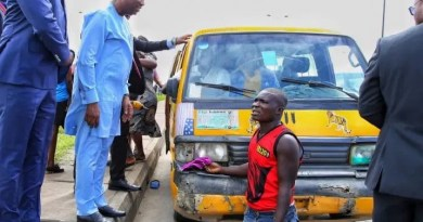 Lagos Deputy Gov., Hamzat arrests drivers driving against traffic (PHOTOS)