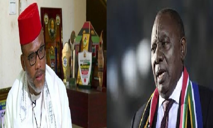 Nnamdi Kanu drags South Africa Govt to UN Over Killings of IPOB Members