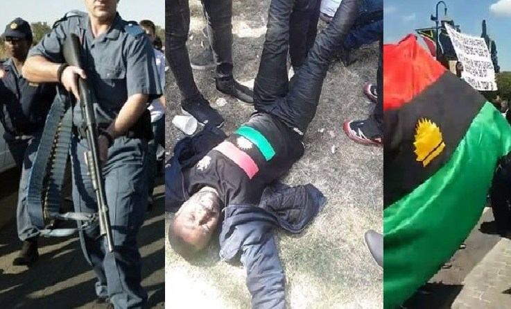 BREAKING: South African police shoots IPOB Protesters (PHOTOS)
