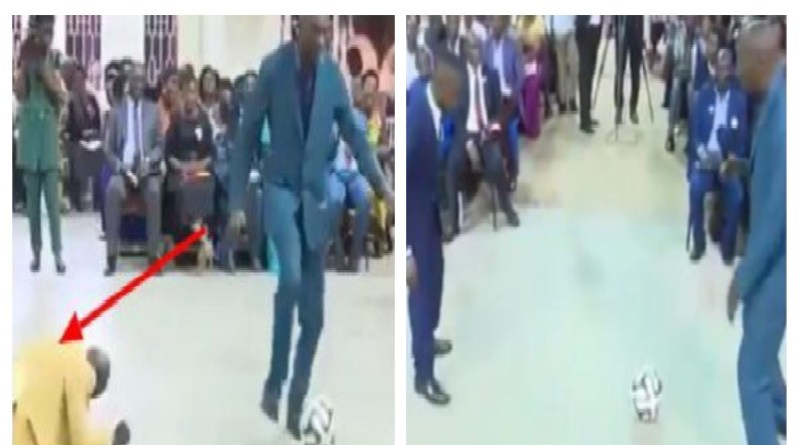 VIDEO: Nigerians react as Pastor performs miracle with football in Church
