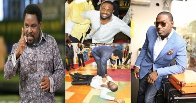 Jim Iyke explains how he falls under anointing in T.B Joshua's Church