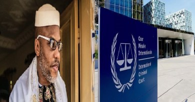 Nnamdi Kanu cries out to ICC to end killings in Nigeria