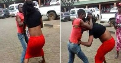 Two fighting in front of Shoprite Mall in Lagos (Photo)