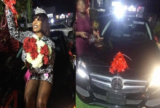 BBNaija's Tacha moves her expensive Benz to the UK for use (videos)