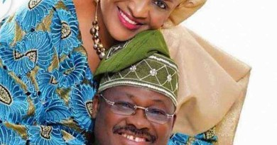 Wife of former Gov., Ajimobi, says her husband always cheats on her