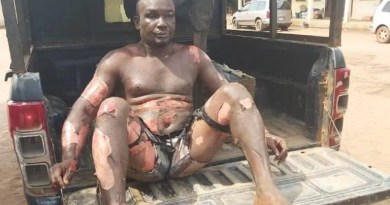 GRAPHIC PICTURE: Man sets self, mother on fire in Imo