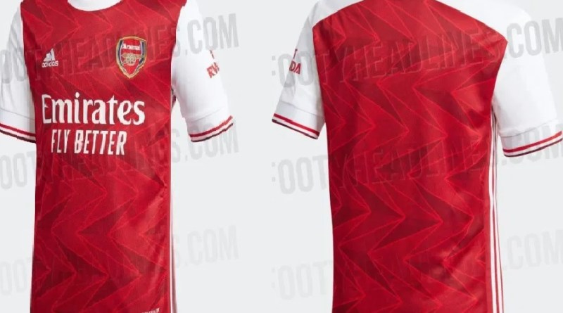 Authentic Arsenal new home jerseys for 2020/21 season leaked online, fans react (Photos)