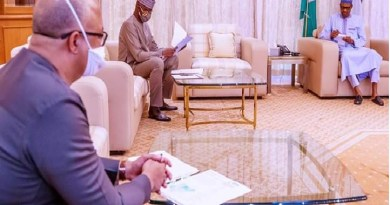 BREAKING: Buhari to take decision of total ease of lockdown, receives updates from PTF (Photos)