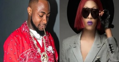 Davido forgets the past, reaches out to help Cynthia Morgan back to her feet