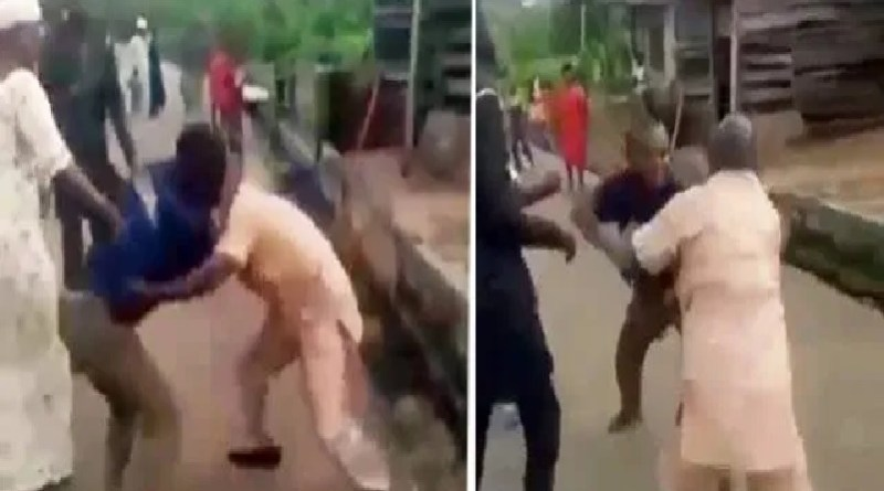 2 Nigerian men fights over a woman in the street of Lagos (video)
