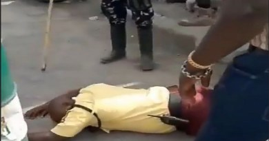 VIDEO: LASTMA official beaten to coma by police officer in Lagos
