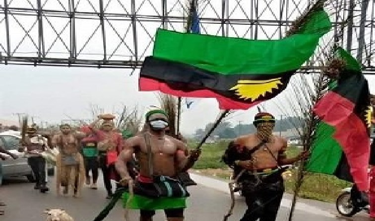 BREAKING: IPOB members on peaceful protest arrested in Abia (Photos)
