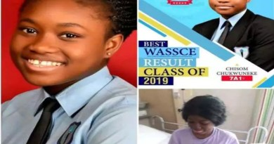 Sad as 17-year-old student, who got 7A1s in WAEC dies