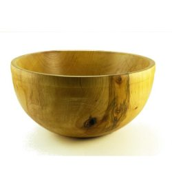 hand turned wooden bowl in Maple