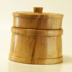 Lidded box turned in Maple