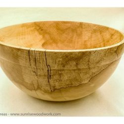 hand Turned Bowl in Spalted Maple