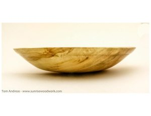 Turned Bowl in Spalted Maple