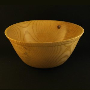 hand turned bowl in Ash