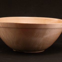 hand turned bowl in maple