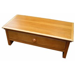 wooden monitor stand in Cherry