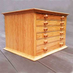 6 Drawer Bead Cabinet in Oaik