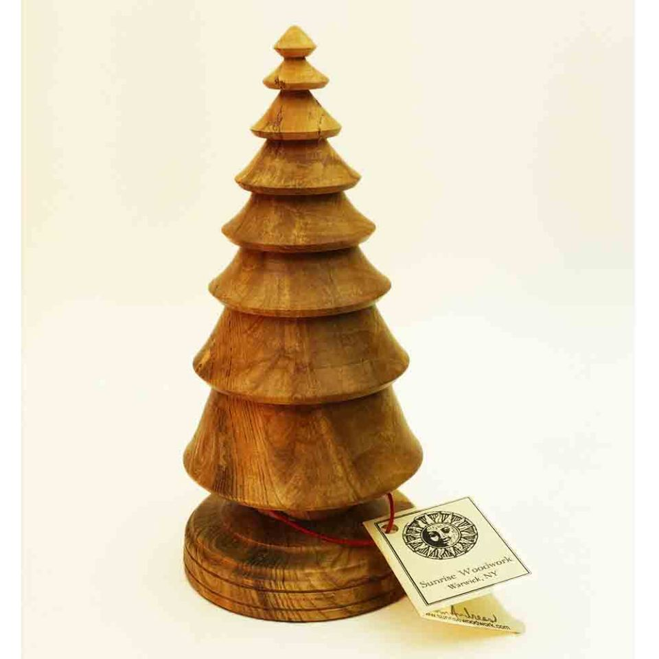 Where Does Christmas Trees Come From: Hand Turned Wooden Christmas Trees