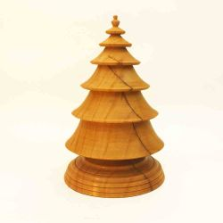 Turned Wooden Christmas Tree in Sugar Maple