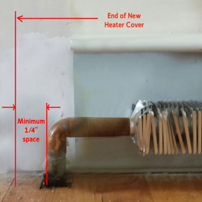 measure length of heater cover